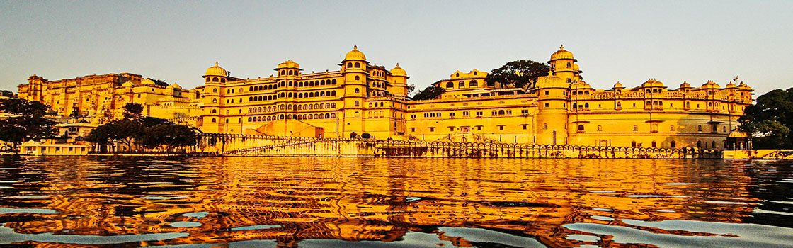Udaipur City Palace at sunset